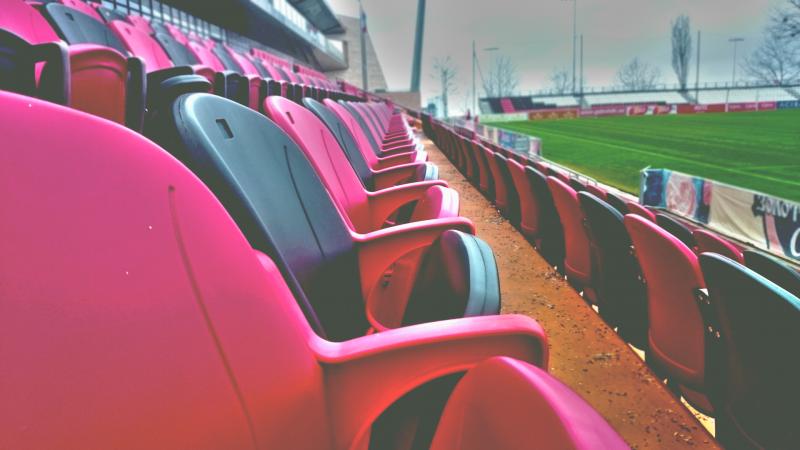 Seats at a sports field