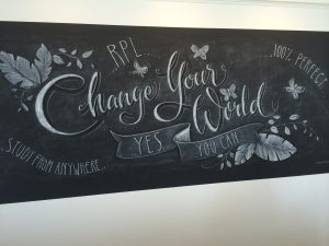 ACE Burleigh chalk art wall
